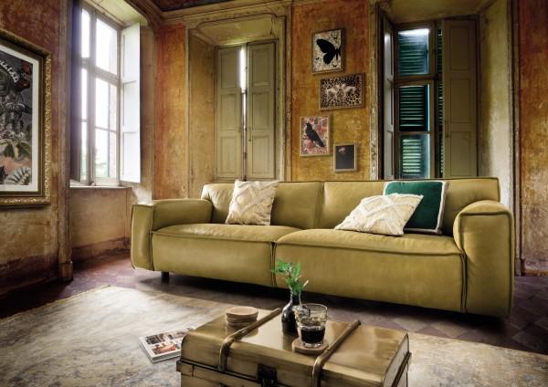 HET ANKER Leder-Sofa XL, 4-sitzig WHISPER