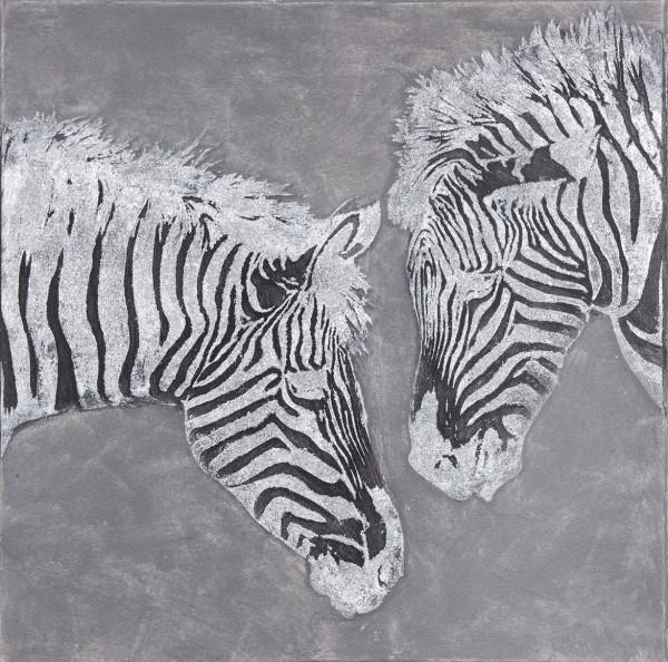 Struktur-Wandbild Zebra Nr. 2