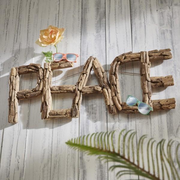 Unikat-Wanddekoration PEACE, handgefertigt, 304347