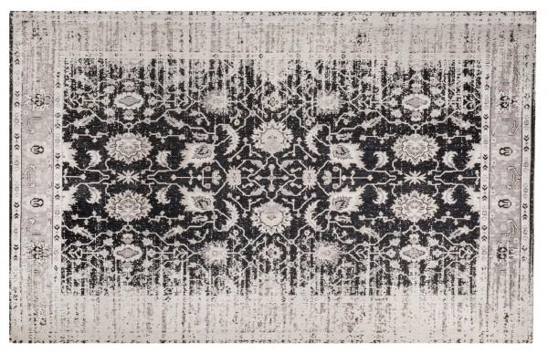 Vintage-Teppich YOSH, 170 x 240 cm, grau/schwarz