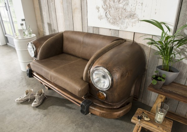 Sofa / Autosofa AMBASSADOR, Front, rostfarbig