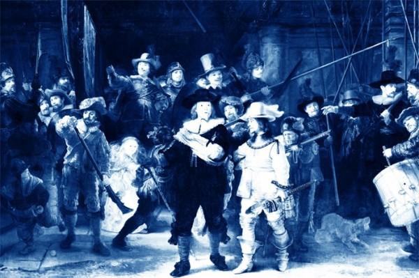 "Wandbild auf Alu Dibond ""BLUE NIGHTWATCH"" 1100839"