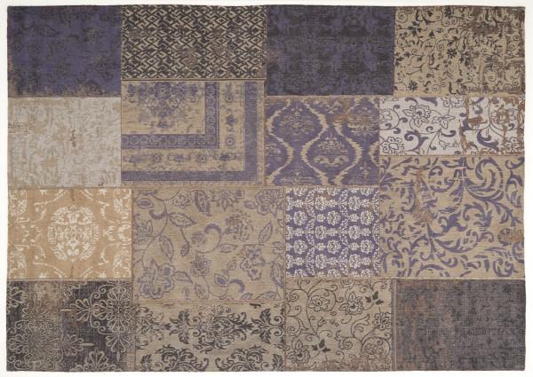 Vintage-Orient-Teppich PATCHWORK, blau