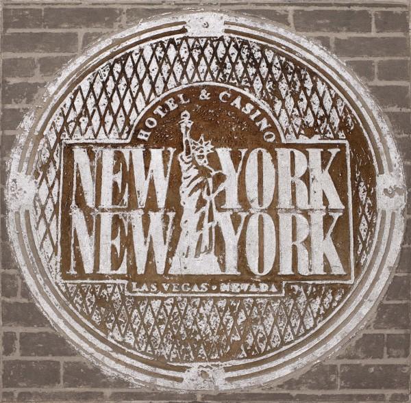 Wandbild HOTEL NEW YORK, handgemalt, in Acrylfarben