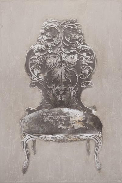 Wandbild BAROCKSESSEL, handgemalt, in Acrylfarben