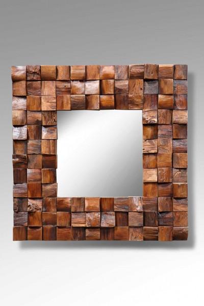Spiegel / Wandspiegel BEAU, mit Holzrahmen in Mosaikform