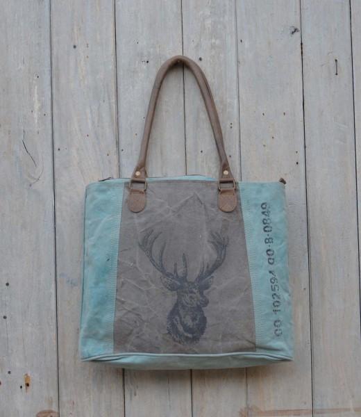 Shopper / Vintage-Tasche HIRSCH 99.097..26