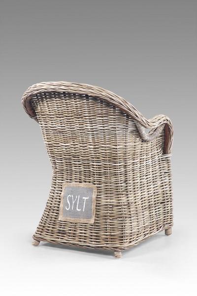 Rattan-Sessel / Stuhl inkl. Sitzkissen SYLT