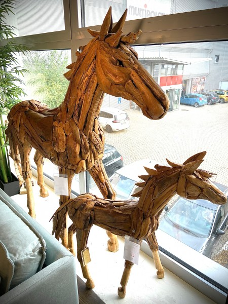 Unikat Deko-Pferd HORSE, handgefertigt 133423 od. 133424