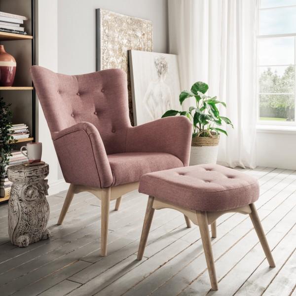 TROELS Sessel mit Hocker PAPOLO