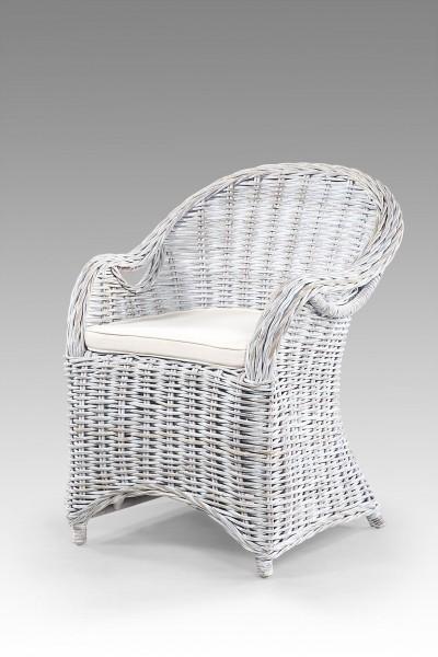 Rattan-Sessel / Stuhl inkl. Sitzkissen IBIZA