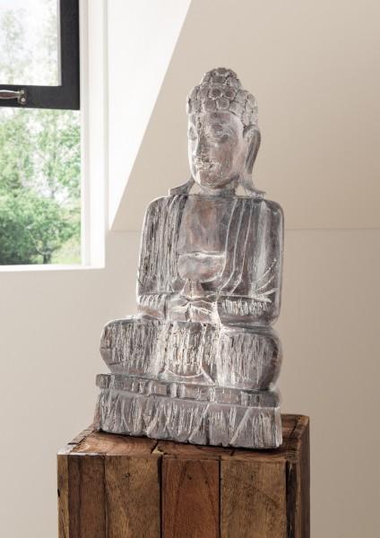 Holzfigur / Dekofigur BUDDHA, sitzend