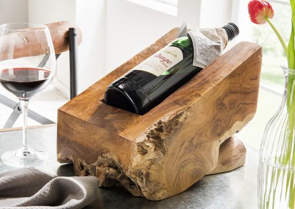 Teakholz-Weinwiege aus einem Stück