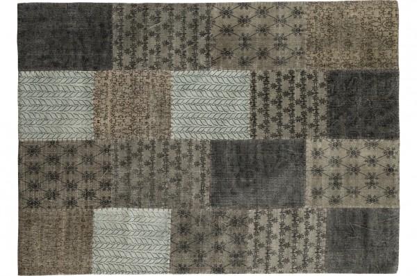 Vintage-Teppich STONE PATCH, multicolor-grau